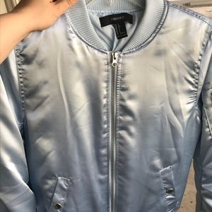 Forever 21 Light Blue Bomber Jacket